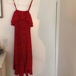 Aqua size small polka dot dress
